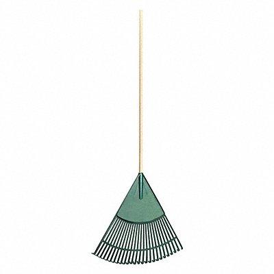 39GA10 - Leaf Rake 26 Tines Wood 24 in.W Tines
