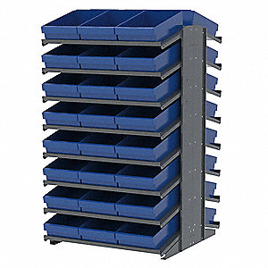 "Steel Pick Rack with 48 Bins, 39""W x 36-3/4""D x 60-1/4""H, Load Capacity: 1800 lb., Gray"