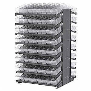 "Steel Pick Rack with 144 Bins, 39""W x 36-3/4""D x 60-1/4""H, Load Capacity: 1800 lb., Gray"
