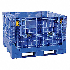 Collapsible Container,48x45 In,Blue