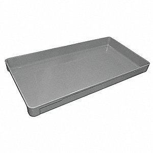 "Stacking Container, Gray, 2-3/4""H x 30-3/8""L x 15-7/8""W, 1EA"