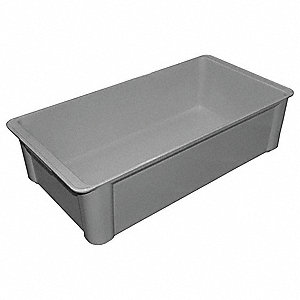Stack Container,23-3/5x12x6,Gray