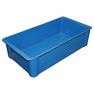 Stack Container,23-3/5x12x6,Blue