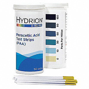 Peracetic Acid Test Strip,50 Strips