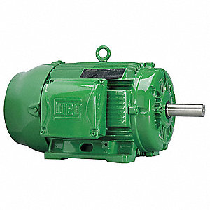 3 HP General Purpose Motor,3-Phase,3520 Nameplate RPM,Voltage 230/460,Frame 182T