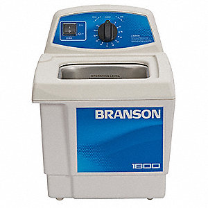 Ultrasonic Cleaner, 0.5 gal Tank, Timer Range 0 to 99 min, Continuous Run, Voltage 120