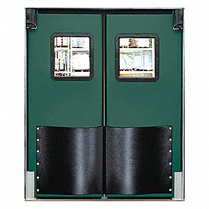 Polyethylene Swinging Door, Jade; Number of Doors: 2, 6 ft.W x 7 ft.H