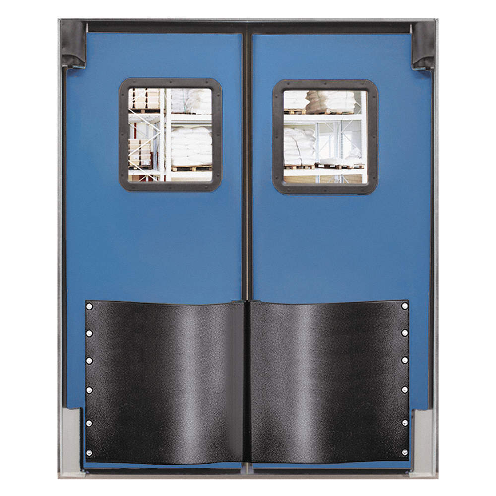 CHASE Polyethylene Swinging Door, Royal Blue; Number of Doors: 2, 5 ...
