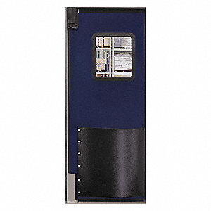 Polyethylene Swinging Door, Navy Blue; Number of Doors: 1, 3 ft.W x 8 ft.H