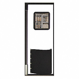 Swinging Door,7 x 3ft,White,Polyethylene