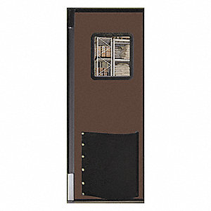 Polyethylene Swinging Door, Chocolate Brown; Number of Doors: 1, 3 ft.W x 8 ft.H