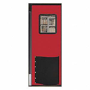 Swinging Door,7 x 3 ft,Red,Polyethylene