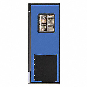 "Polyethylene Swinging Door, Royal Blue; Number of Doors: 1, 2 ft. 6""W x 7 ft.H"