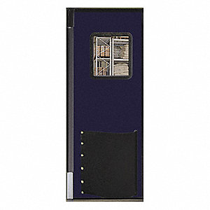 Swinging Door,7 x 3 ft,Navy Blue
