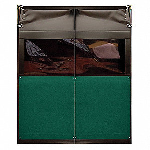 PVC Swinging Door, Forest Green; Number of Doors: 2, 6 ft.W x 7 ft.H