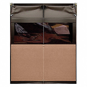 Swinging Dr,7x5 ft,Medium Brown,PVC,PR
