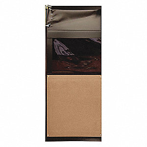 PVC Swinging Door, Medium Brown; Number of Doors: 1, 3 ft.W x 7 ft.H