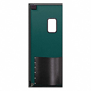 ABS Swinging Door, Forest Green; Number of Doors: 1, 3 ft.W x 7 ft.H