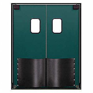 ABS Swinging Door, Forest Green; Number of Doors: 2, 5 ft.W x 8 ft.H