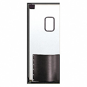ABS Swinging Door, White; Number of Doors: 1, 3 ft.W x 8 ft.H