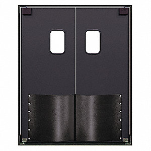 ABS Swinging Door, Metallic Gray; Number of Doors: 2, 6 ft.W x 8 ft.H