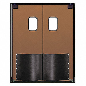 ABS Swinging Door, Medium Brown; Number of Doors: 2, 5 ft.W x 7 ft.H