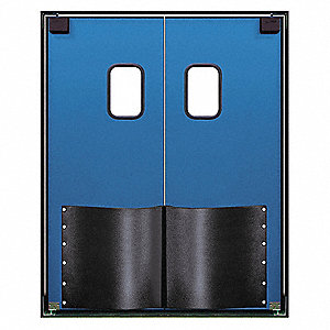 ABS Swinging Door, Royal Blue; Number of Doors: 2, 8 ft.W x 8 ft.H