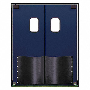 ABS Swinging Door, Navy Blue; Number of Doors: 2, 5 ft.W x 7 ft.H