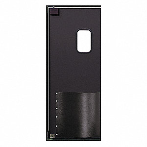 Swinging Door,7 x 2.5 ft,Black,Wood Core
