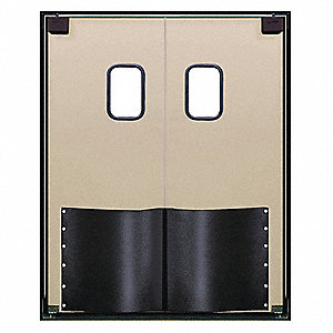ABS Swinging Door, Beige; Number of Doors: 2, 5 ft.W x 7 ft.H