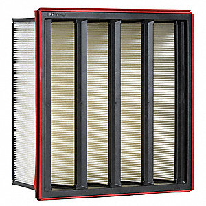 20x24x12 Synthetic V-Bank Air Filter with MERVA13/14