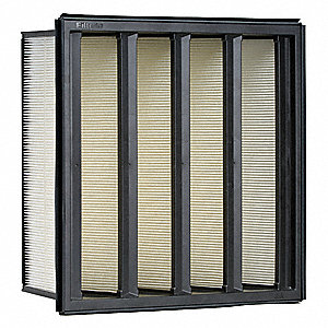 12x24x12 Synthetic V-Bank Air Filter with MERVA14/15