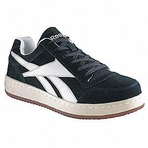 d2b308c60cb1c Men's Athletic Work Shoes, Steel Toe Type, Navy Blue, Size 13M