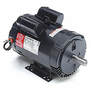 5 HP Commercial Duty Air Compressor Motor,Capacitor-Start/Run,1760 Nameplate RPM,208-230 Voltage
