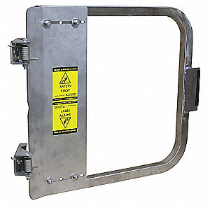 "Safety Gate, 19-3/4"" to 23-1/2"" Adjustable Opening, 316L Stainless Steel"