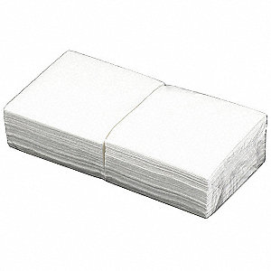 "DRC (Double Re-Creped) Disposable Wipes, 90 Ct. 11-1/2"" x 12-1/2"" Sheets, White"