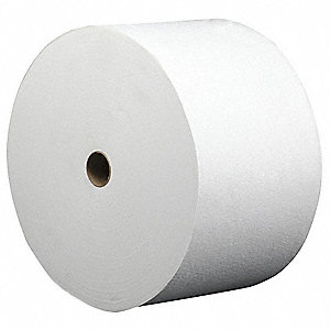 White DRC (Double Re-Creped) Shop Towel Roll, Number of Sheets 800
