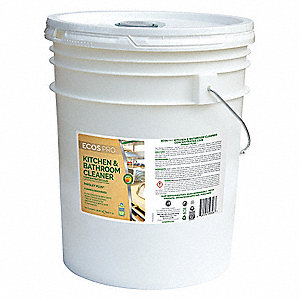 Kitchen and Bathroom Cleaner, 5 gal. Pail, Unscented Liquid, Ready To Use, 1 EA
