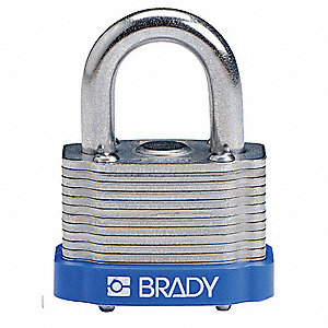 "Keyed Padlock,Different,1-5/16""W,PK6"