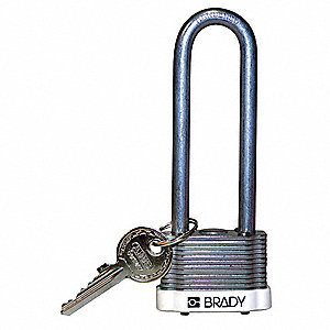 "Keyed Padlock,Different,1-5/16""W"