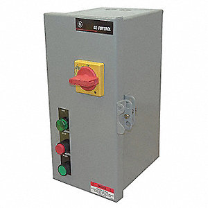 120VAC Push Button IEC Combination Starter, 1 Enclosure NEMA Rating, Amps AC: 2.5 to 4