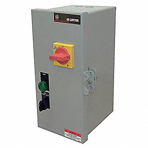 120VAC Selector Switch IEC Combination Starter, 1 Enclosure NEMA Rating, Amps AC: 1.5 to 2.5