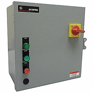 120VAC Push Button IEC Combination Starter, 1 Enclosure NEMA Rating, Amps AC: 9 to 13