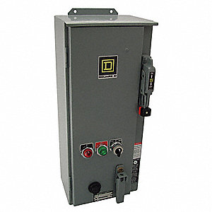 120VAC Selector Switch NEMA Circuit Breaker Combination Starter, Enclosure NEMA Rating 12, 45 Amps A
