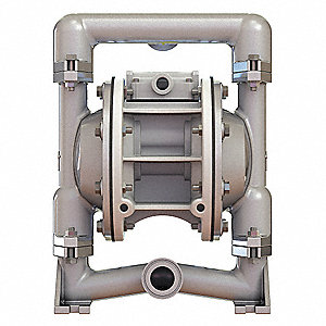 316 Stainless Steel Santoprene® Single Double Diaphragm Pump, 46 gpm, 100 psi