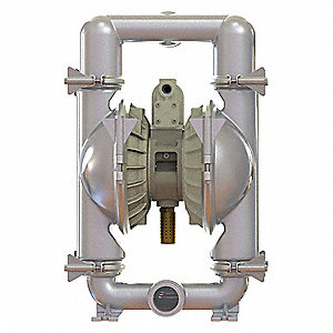 316 Stainless Steel Santoprene® Single Double Diaphragm Pump, 185 gpm, 120 psi