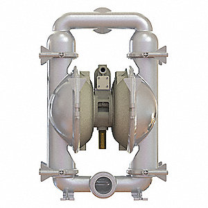316 Stainless Steel Santoprene® Single Double Diaphragm Pump, 234 gpm, 120 psi