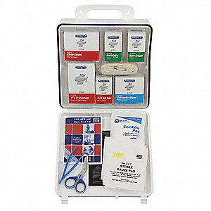 First Aid Kit,Unitized,White,99Pcs,25Ppl