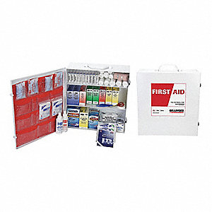 First Aid Kit,Bulk,White,970 Pcs,100 Ppl