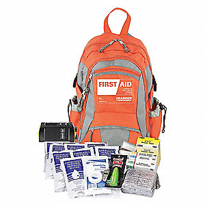 Emergency Medical Kit,Orange,Fabric